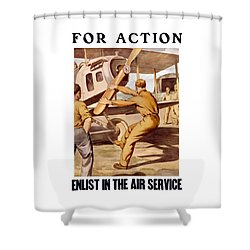 Enlist In The Air Service Shower Curtain