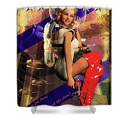 Enlist Today Shower Curtain