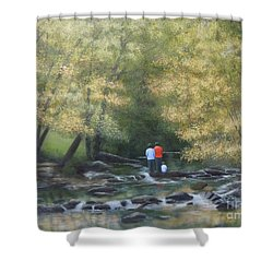 Eno River Afternoon Shower Curtain