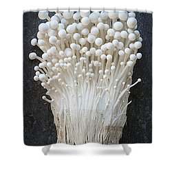Enoki Mushrooms Shower Curtain by Elena Elisseeva