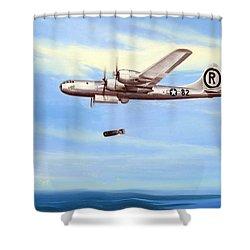 Enola Gay Shower Curtain by Marc Stewart
