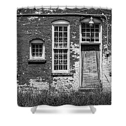 Shower Curtain featuring the photograph Enough Windows - Bw by Christopher Holmes