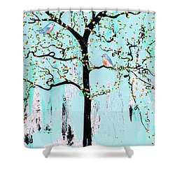 Enroute Shower Curtain by Natalie Briney