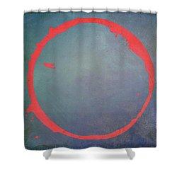 Shower Curtain featuring the digital art Enso 2017-1 by Julie Niemela