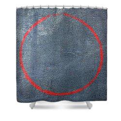 Shower Curtain featuring the digital art Enso 2017-14 by Julie Niemela