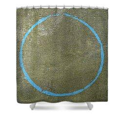 Shower Curtain featuring the digital art Enso 2017-15 by Julie Niemela