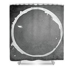 Shower Curtain featuring the digital art Enso 2017-16 by Julie Niemela