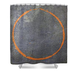 Shower Curtain featuring the digital art Enso 2017-20 by Julie Niemela