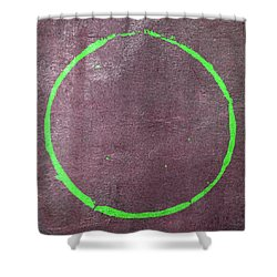 Shower Curtain featuring the digital art Enso 2017-21 by Julie Niemela