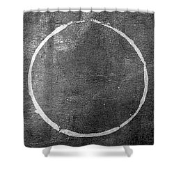 Shower Curtain featuring the digital art Enso 2017-22 by Julie Niemela