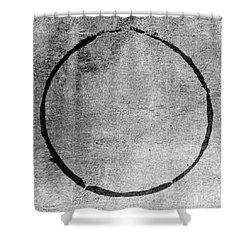 Shower Curtain featuring the digital art Enso 2017-24 by Julie Niemela