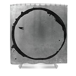 Shower Curtain featuring the digital art Enso 2017-26 by Julie Niemela
