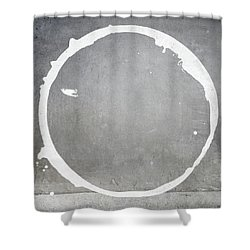 Shower Curtain featuring the digital art Enso 2017-28 by Julie Niemela