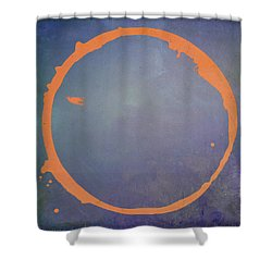 Shower Curtain featuring the digital art Enso 2017-3 by Julie Niemela
