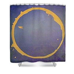 Shower Curtain featuring the digital art Enso 2017-4 by Julie Niemela
