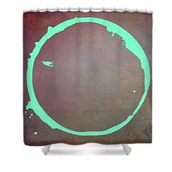 Shower Curtain featuring the digital art Enso 2017-6 by Julie Niemela