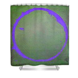 Shower Curtain featuring the digital art Enso 2017-7 by Julie Niemela