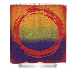 Enso 7 Shower Curtain by Julie Niemela