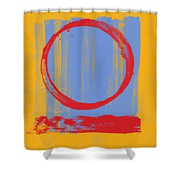 Enso Shower Curtain by Julie Niemela