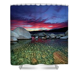Enter A Tahoe Dream Shower Curtain