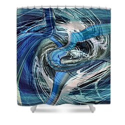 Enter The Blue Dragon Shower Curtain