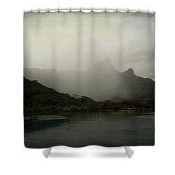 Entering Moorea Shower Curtain