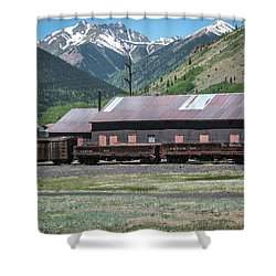 Shower Curtain featuring the photograph Entering Silverton by Colleen Coccia