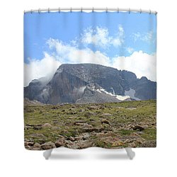 Entering The Boulder Field Shower Curtain by Christin Brodie