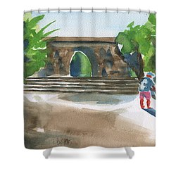 Entrance At Chankanaab Shower Curtain by Frank Bright