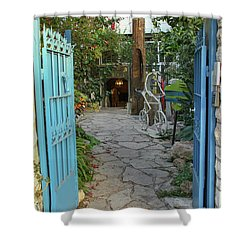 Entrance Door To The Artist Shower Curtain by Yoel Koskas