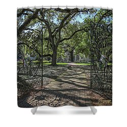 Shower Curtain featuring the photograph Entrance Gate To Ul Alum House by Gregory Daley  PPSA