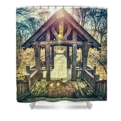 Entrance To 7 Bridges - Grant Park - South Milwaukee  Shower Curtain by Jennifer Rondinelli Reilly - Fine Art Photography