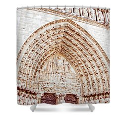 Entrance To Notre Dame Cathedral Shower Curtain