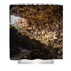 Entrance To Skull Cave Shower Curtain
