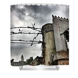 Entrance To The Old Ammunition Depot Of The Belgian Army Shower Curtain