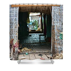 Entrance To Tonle Sap Home  Shower Curtain