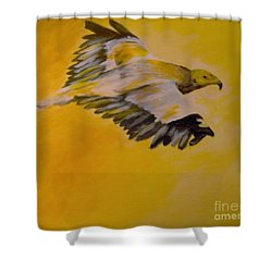 Shower Curtain featuring the painting Entrepreneur by Saundra Johnson