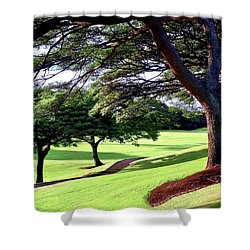 Entry Drive To Kahili Golf Course Shower Curtain