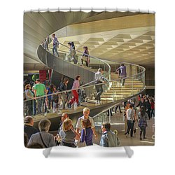 Entry Hall In The Louvre Museum Shower Curtain