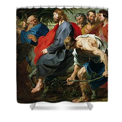 Entry Of Christ Into Jerusalem Shower Curtain by Sir Anthony van Dyke