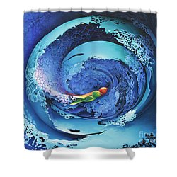 Entwinned Shower Curtain by Symona Colina
