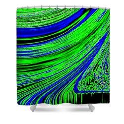Environmental Ebb Shower Curtain by Will Borden