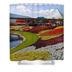 Epcot Gardens Shower Curtain