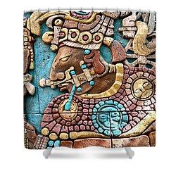 Epcot Mayan Warrior Shower Curtain