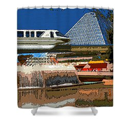 Epcot Scenic Shower Curtain by David Lee Thompson