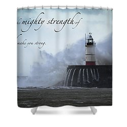Ephesians 6 10 Shower Curtain
