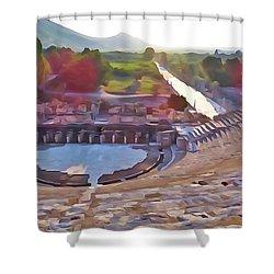 Ephesus Theater Shower Curtain
