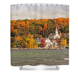 Shower Curtain featuring the photograph Ephraim Wisconsin In Door County by Heidi Hermes