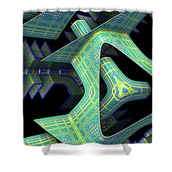 Shower Curtain featuring the digital art Epic by Lyle Hatch