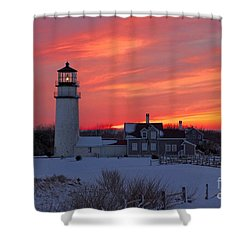 Epic Sunset At Highland Light Shower Curtain